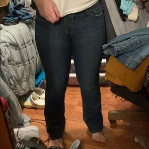 Bootcut jeans, length is short